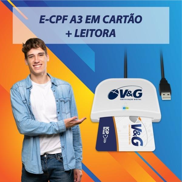 E-CPF A3 EM CARTAO + LEITORA