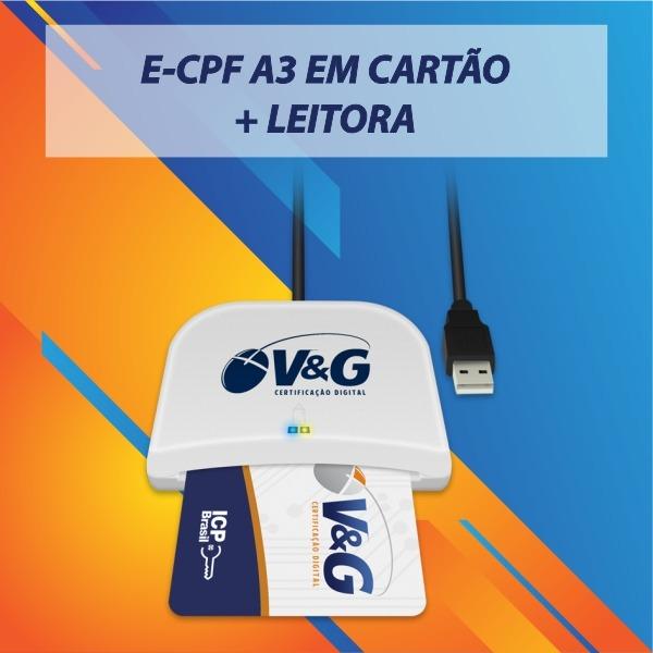 E-CPF A3 EM CARTAO + LEITORA_MOD 2